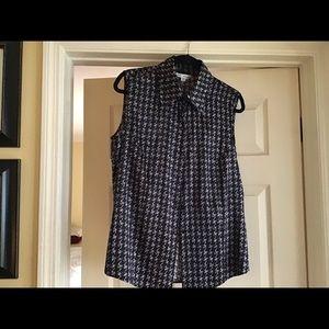 St. John silk sleeveless blouse size 12